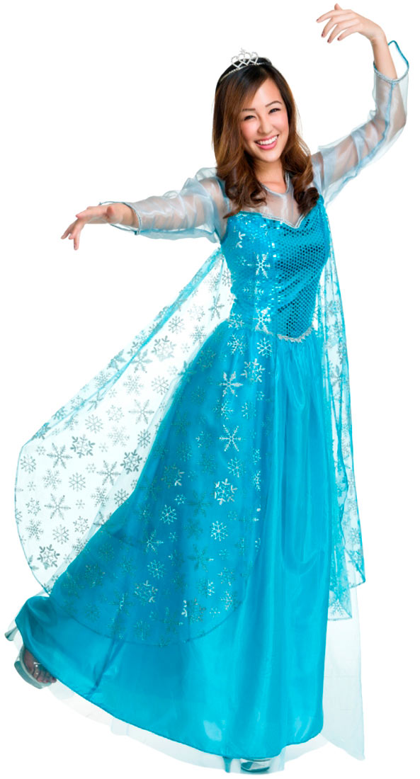 frozen elsa style ice queen adult deluxe costume