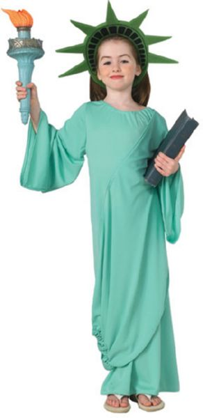 Child Statue of Liberty Costume S M L