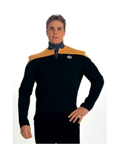 Star Trek Chief O'Brian Gold Large Adult