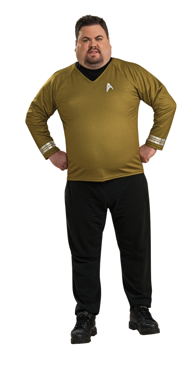 STAR TREK MOVIE Adult Gold Deluxe Shirt Plus size