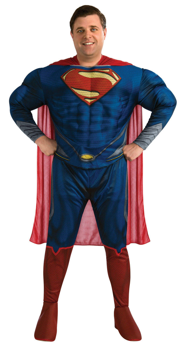 Superman Man of Steel DELUXE Adult Costume Plus Size