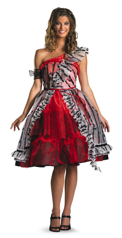 Alice in Wonderland Alice Red Court Dress Costume IN STOCK