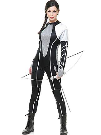 Hunger Games 2 Catching Fire Sexy Hunter Jumpsuit Costume