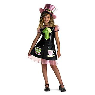 Alice in Wonderland Mad Hatter Girls Costume