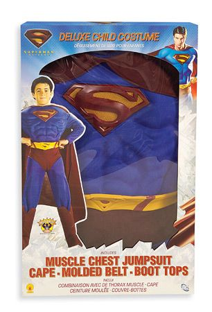 Superman™ Deluxe Actionwear Boxed Set S, M, L