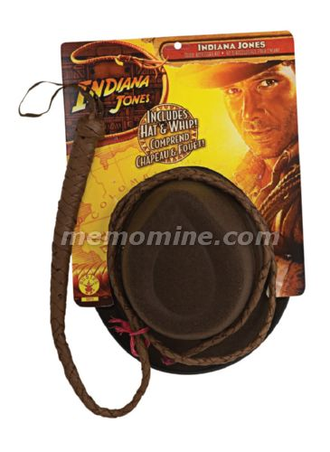 Indiana Jones Adult Hat & Whip STD