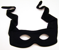 Lone Ranger inspired Black Eye Mask