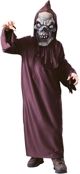 Cryptkeeper™ Deluxe Fabric Mask with hooded robe One size