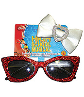 High School Musical Gabreilla Sunglasses & Hairpiece