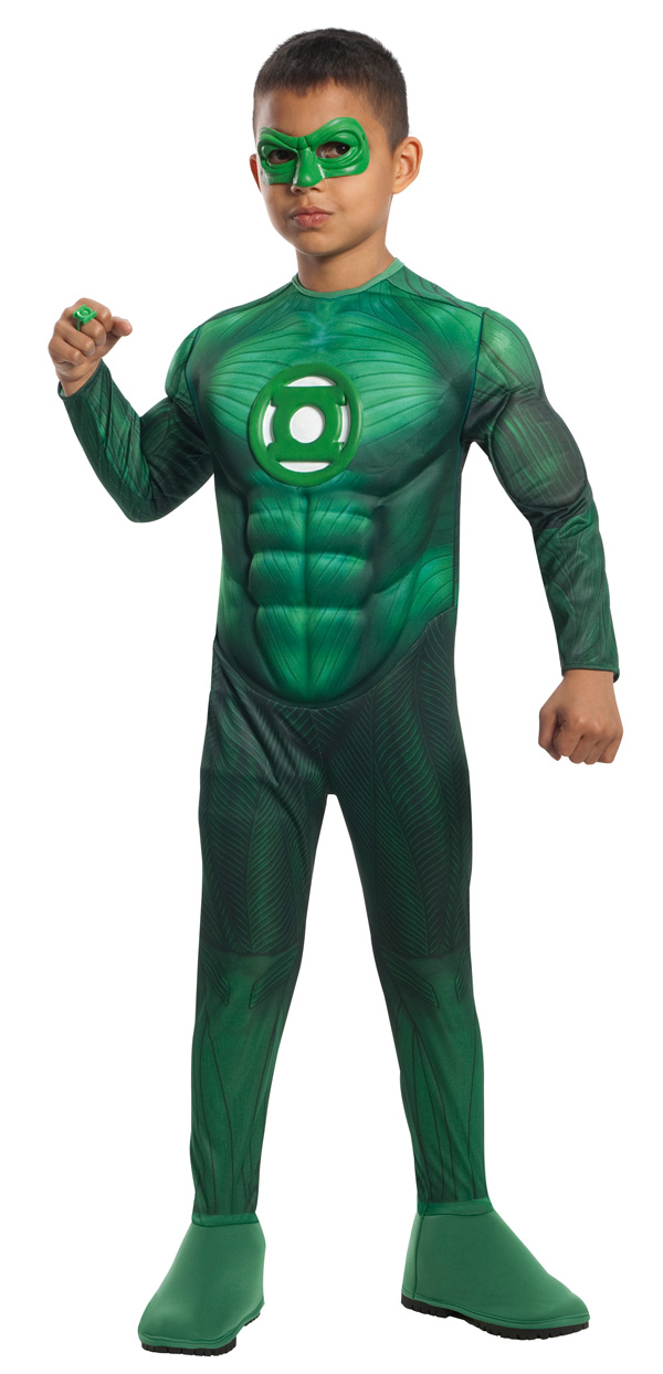 Green Lantern Child Dlx Hal Jordan Muscle Chest Costume