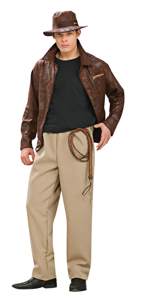 Indiana Jones Adult Deluxe Costume STD, XL