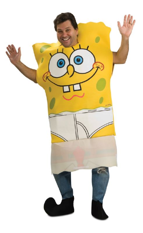 Spongebob Adult Costume w/Drop Down Front STD