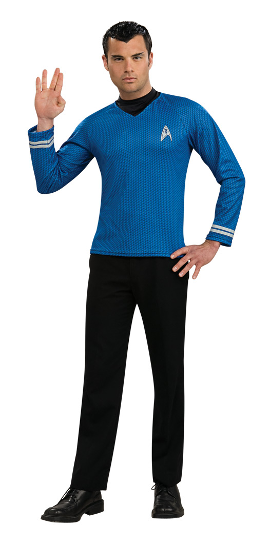 STAR TREK MOVIE Adult Blue Shirt S-M-L-XL