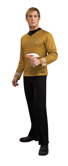 STAR TREK MOVIE Adult Gold Deluxe Shirt S-M-L-XL