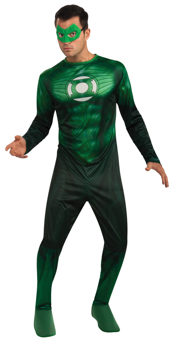 Green Lantern Adult Hal Jordan Costume Sizes M, XL
