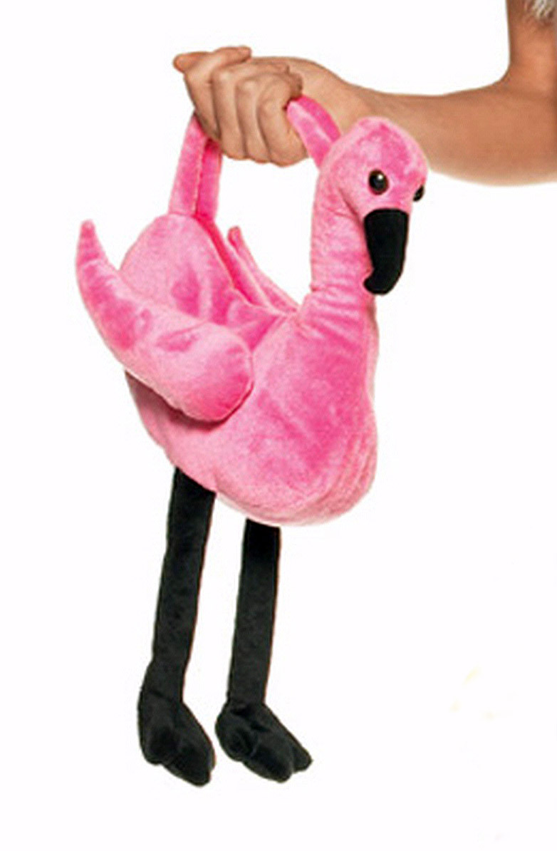 Alice's Plush Flamingo Purse One size HOT PINK **In Stock**