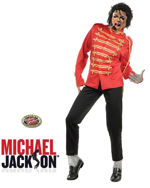 BOYS MICHAEL JACKSON RED MILITARY JACKET SM 3-4