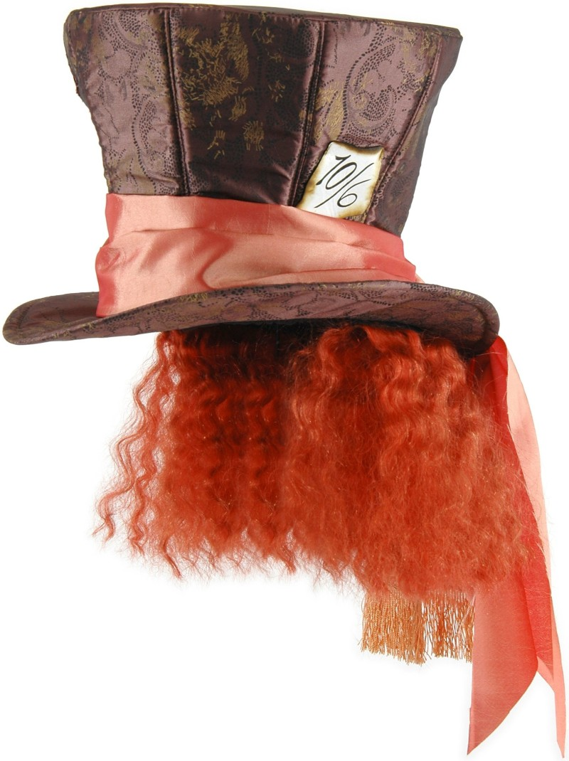 Alice in Wonderland Mad Hatter Top Hat with Hair *In Stock*