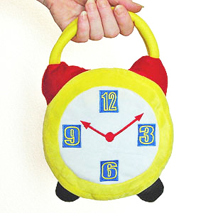 Alice's Crazy Hour Alarm Clock Purse YELLOW **In Stock**