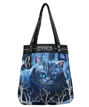 Alice in Wonderland Designer Tote Bag Cheshire Cat In Stock