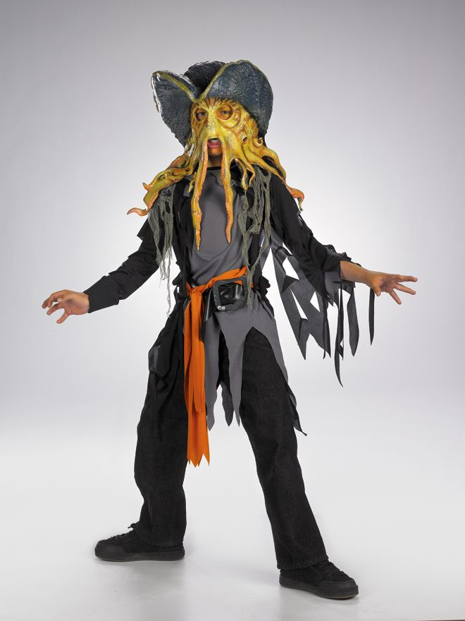 Disney Davey Jones Quality Child Costume M, L