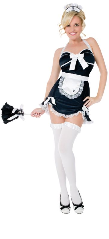 PLAYBOY Licensed Costume CLASSIC FRENCH MAID XS, S, M