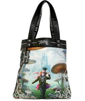 Alice in Wonderland Designer Tote Bag Mad Hatter **In Stock**
